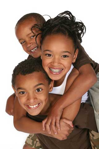 3 children Smiling